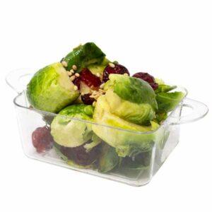2.5 oz disposable plastic dish
