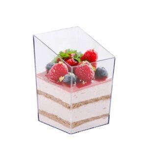 Square Plastic Dessert Cups