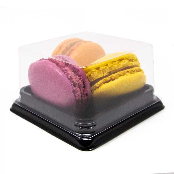 Small Macaron Box With Clear Lid Three Macarons